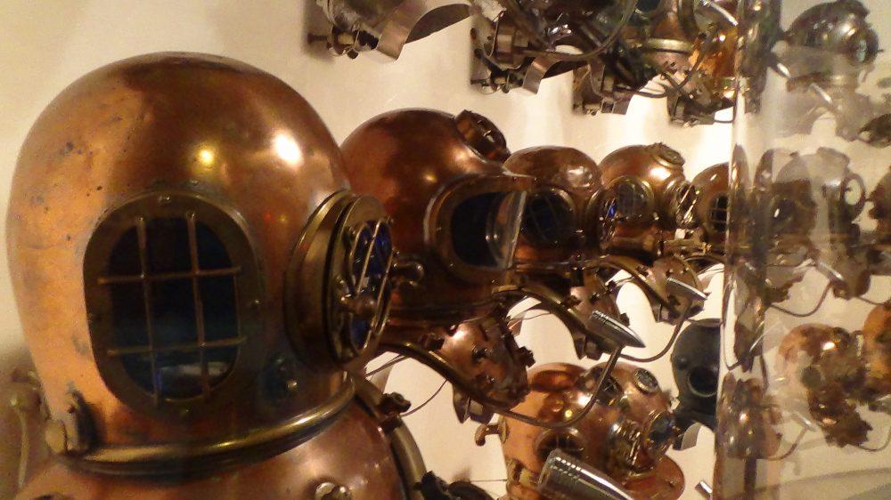 world of diving helmets